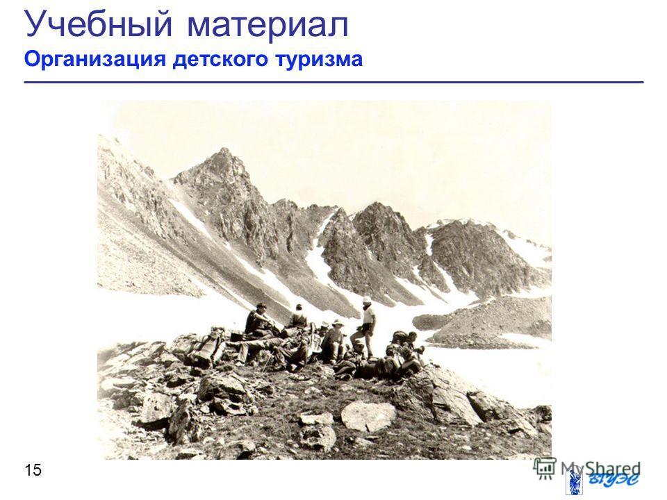 Учебный материал Организация детского туризма 15