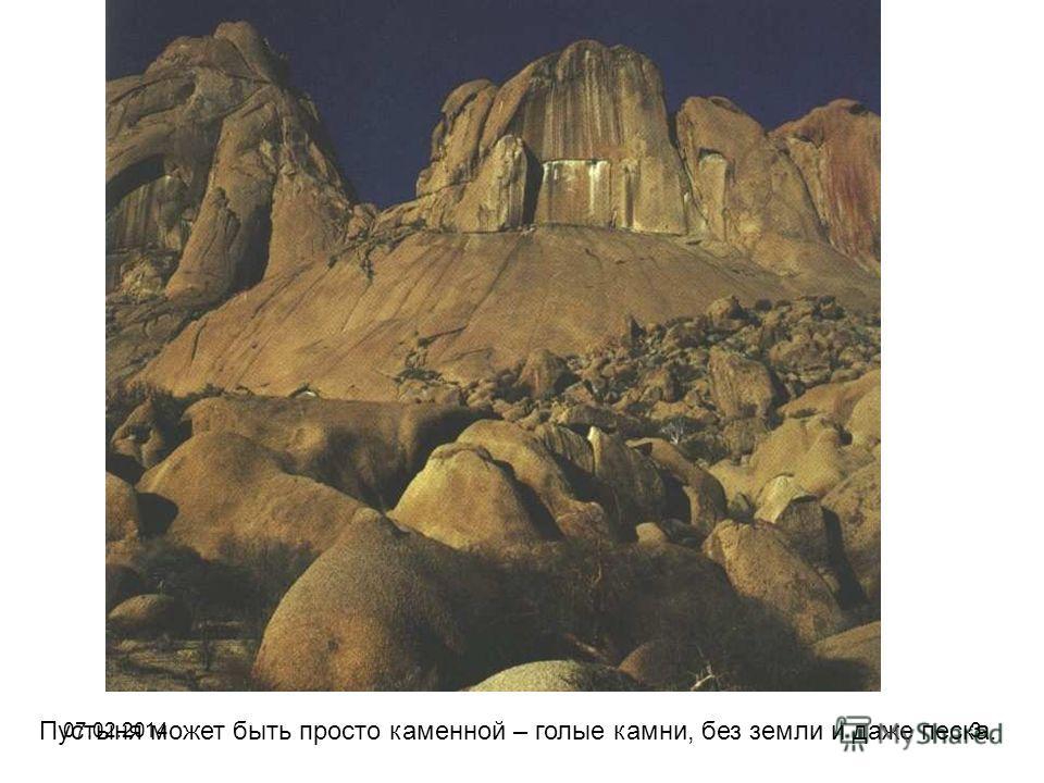 Пустыня может быть просто каменной – голые камни, без земли и даже песка. 07.02.20143