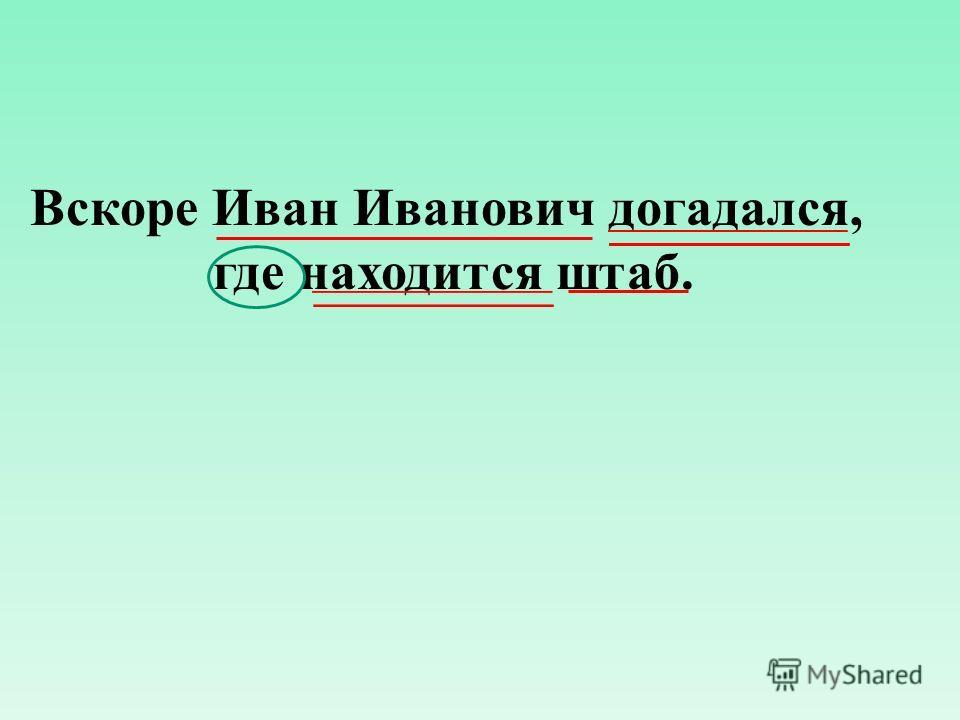 Вскоре Иван Иванович догадался, где находится штаб.