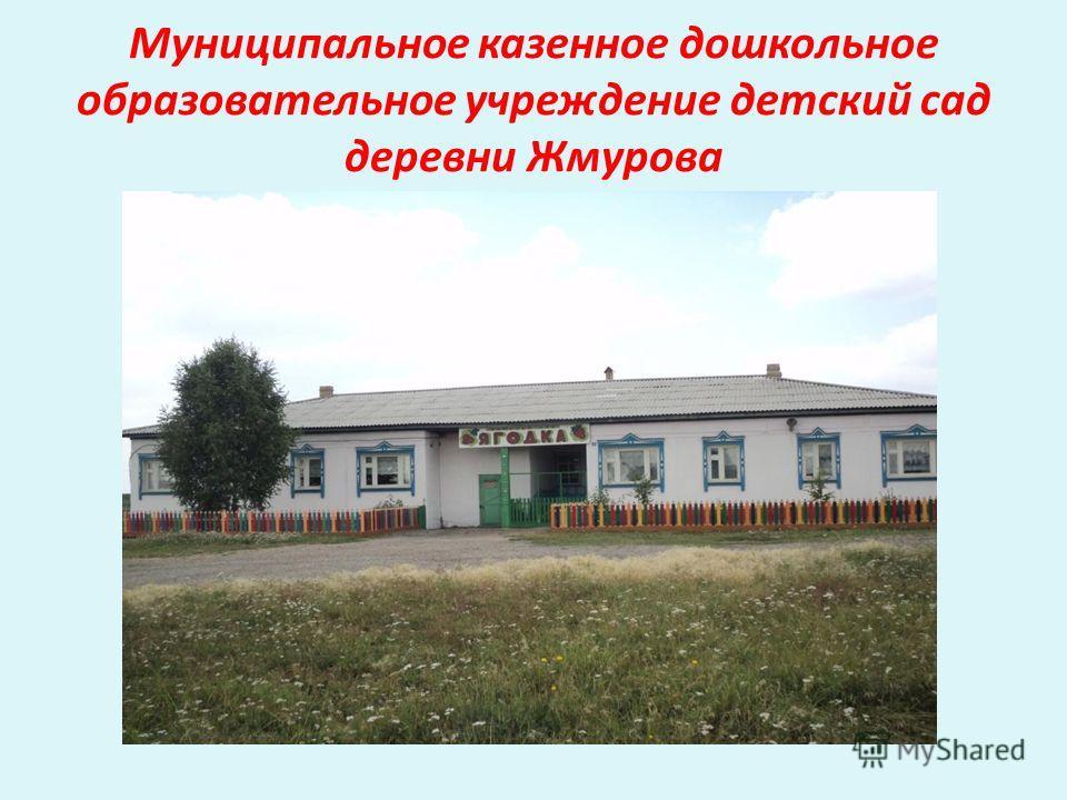 Муниципальное казенное дошкольное образовательное учреждение детский сад деревни Жмурова