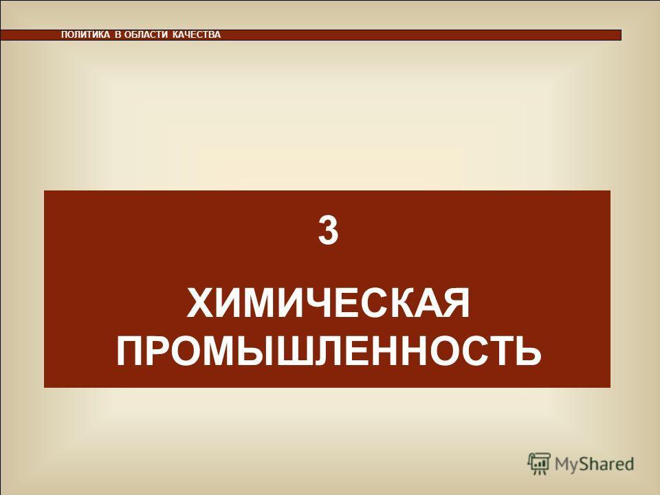 29 ПОЛИТИКА В ОБЛАСТИ КАЧЕСТВА 3 ХИМИЧЕСКАЯ ПРОМЫШЛЕННОСТЬ