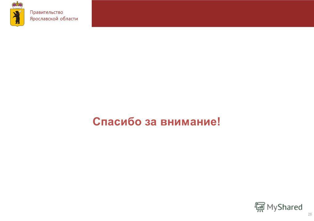 Правительство Ярославской области Спасибо за внимание! 26