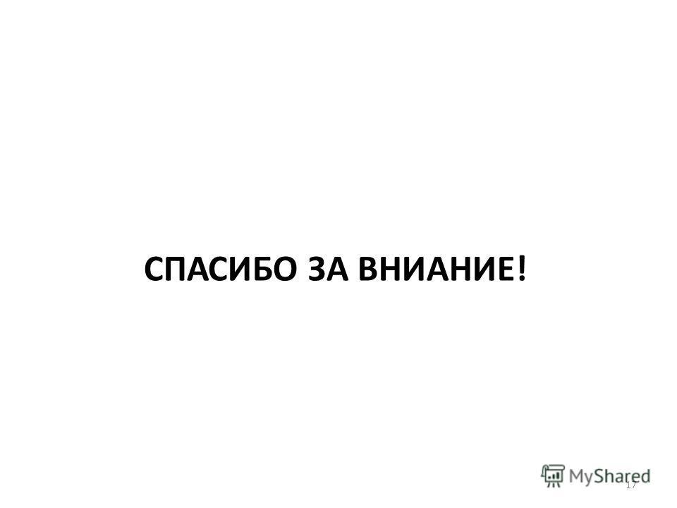 СПАСИБО ЗА ВНИАНИЕ! 17