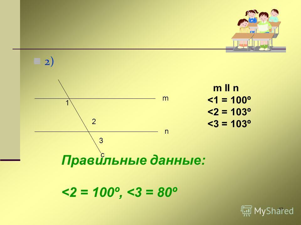 13 2) m n c 1 2 3 m II n