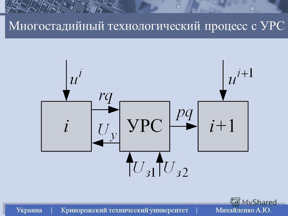 Многостадийный технологический процесс с УРС Украина | Криворожский технический университет | Михайленко А.Ю.