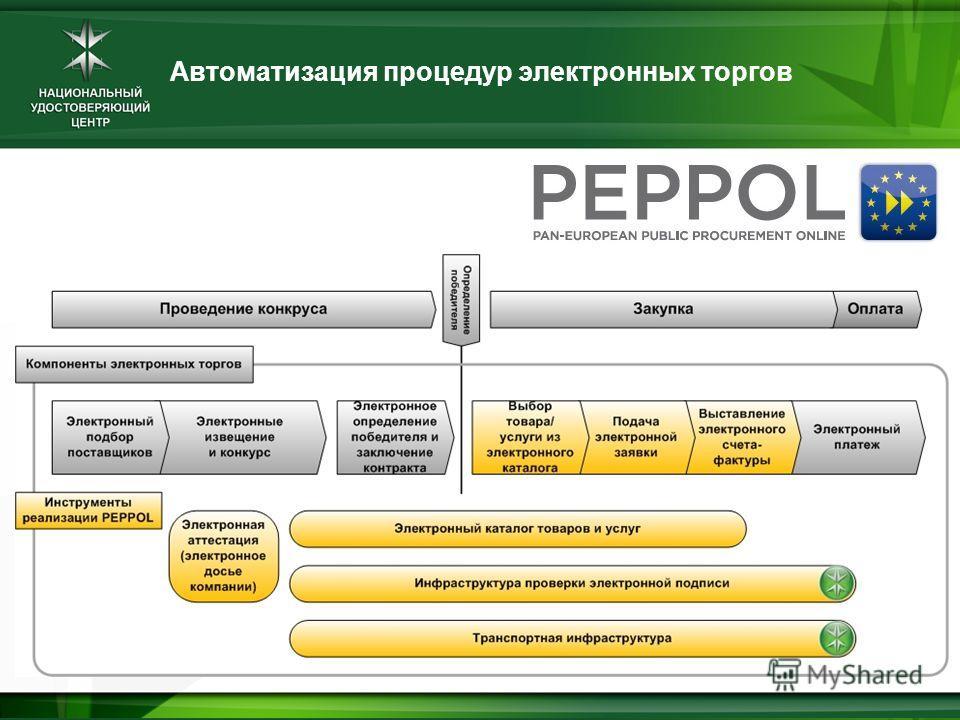 Автоматизация процедур электронных торгов