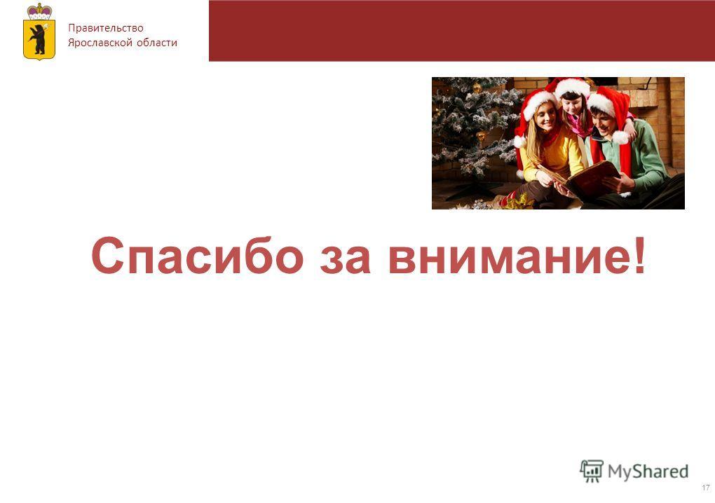 Правительство Ярославской области Спасибо за внимание! 17