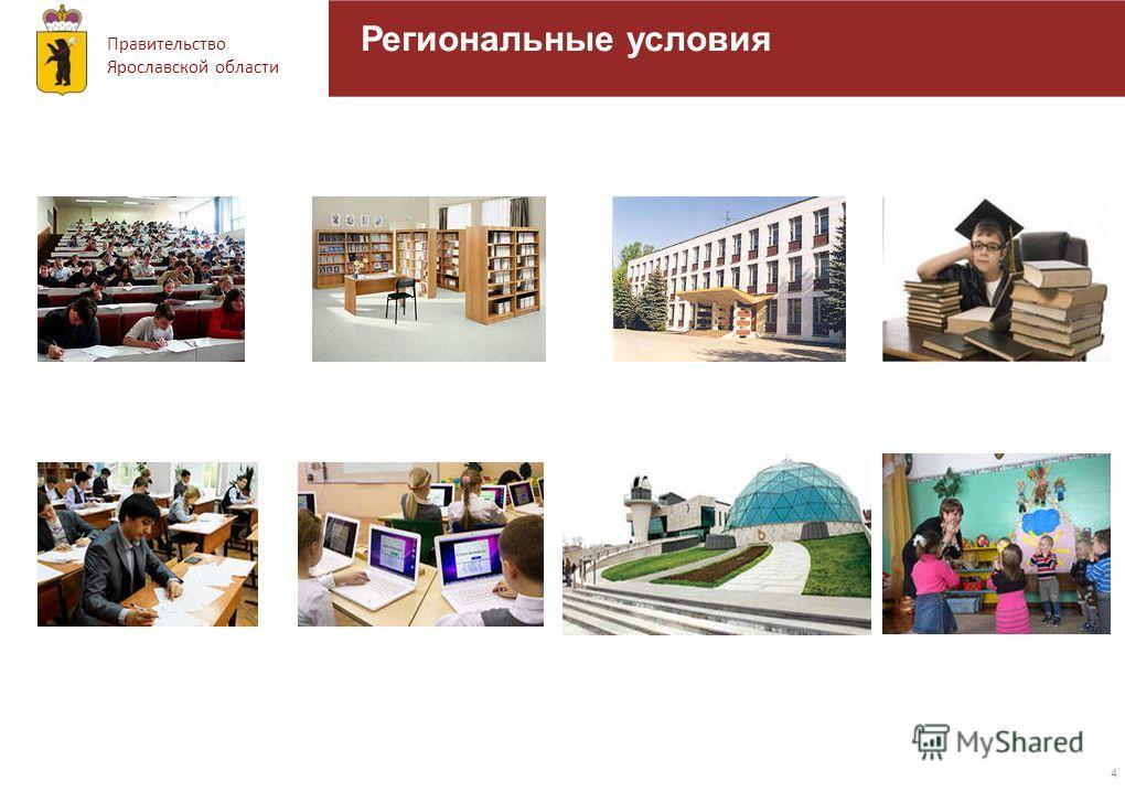 Правительство Ярославской области 4 Региональные условия