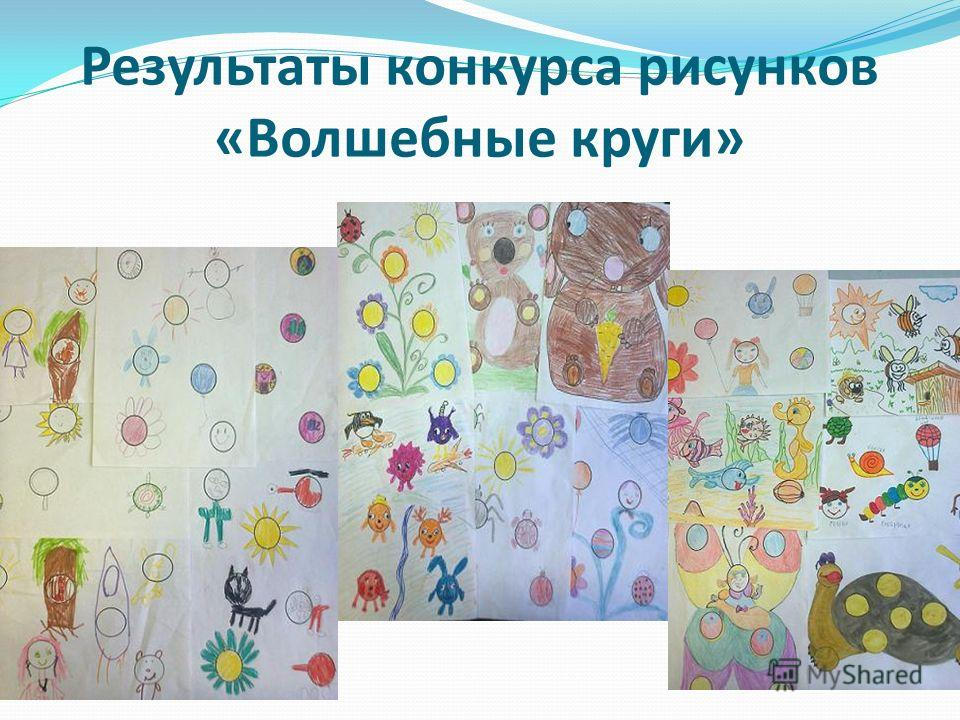 Результаты конкурса рисунков «Волшебные круги»