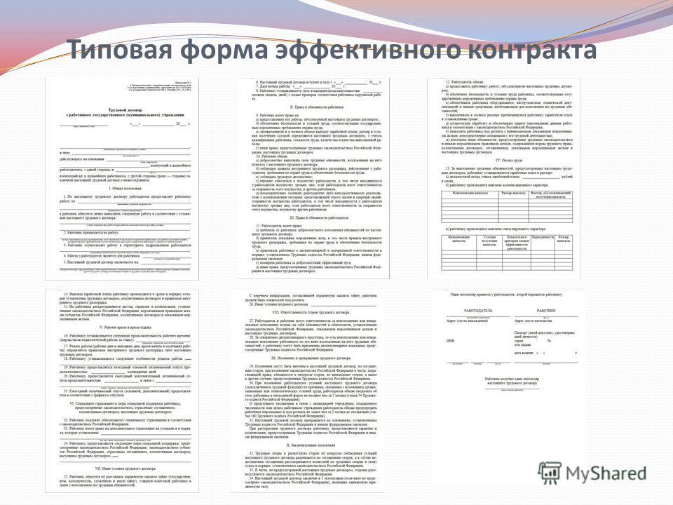 Типовая форма эффективного контракта