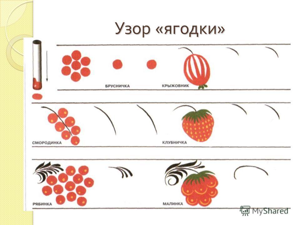 Узор « ягодки »