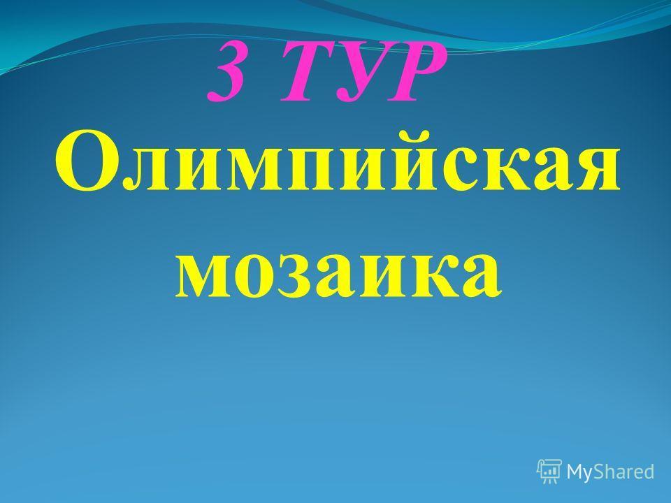 3 ТУР Олимпийская мозаика