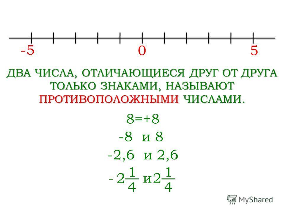 Сегодня на уроке мы узнаем, какие числа называют противоположными, научимся решать уравнения нового типа.