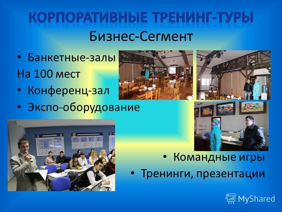 Банкетные-залы На 100 мест Конференц-зал Экспо-оборудование Командные игры Тренинги, презентации