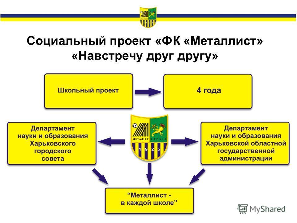 Социальный проект «ФК «Металлист» «Навстречу друг другу»