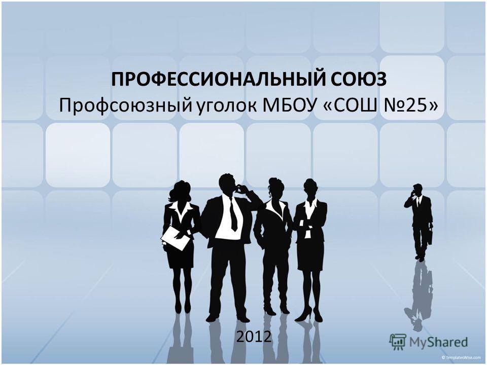 ПРОФЕССИОНАЛЬНЫЙ СОЮЗ Профсоюзный уголок МБОУ «СОШ 25» 2012