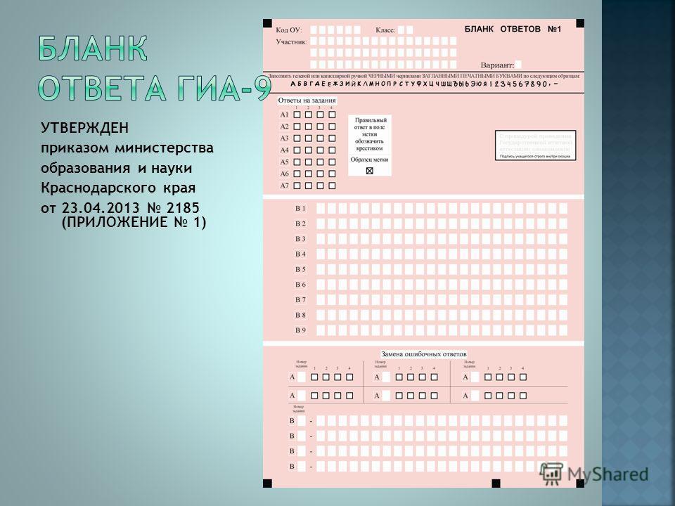 УТВЕРЖДЕН приказом министерства образования и науки Краснодарского края от 23.04.2013 2185 (ПРИЛОЖЕНИЕ 1)