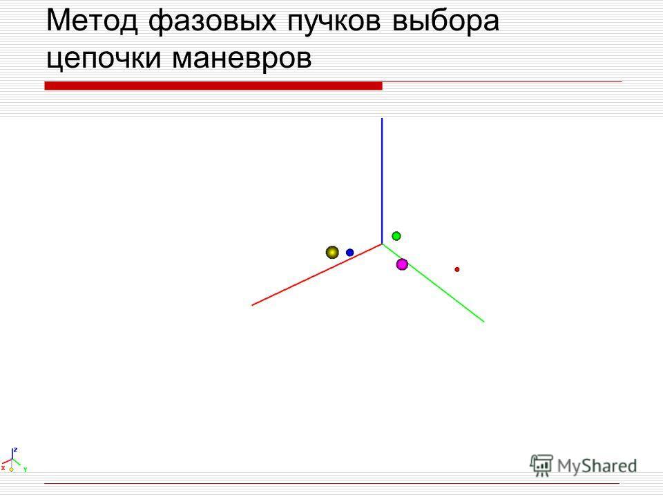Метод фазовых пучков выбора цепочки маневров