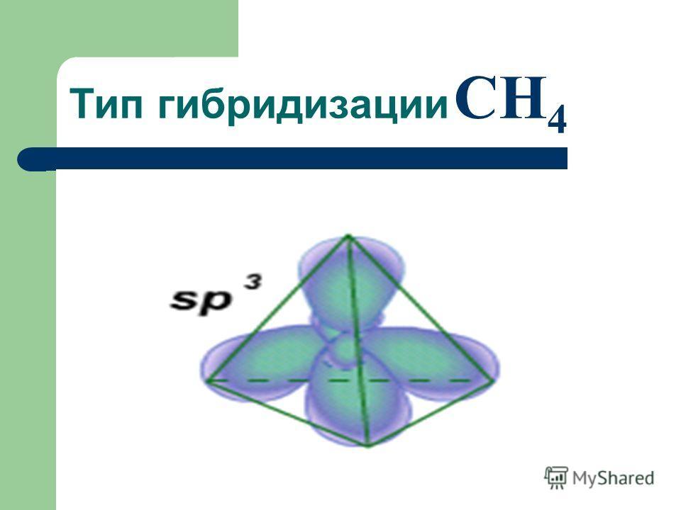 Тип гибридизации CH 4