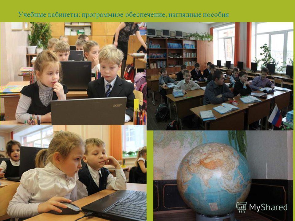 Учебные кабинеты: программное обеспечение, наглядные пособия