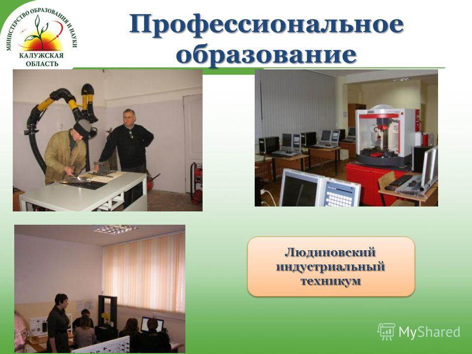 Профессиональное образование Людиновский индустриальный техникум