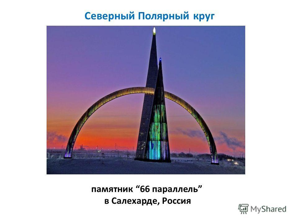 памятник 66 параллель в Салехарде, Россия Северный Полярный круг
