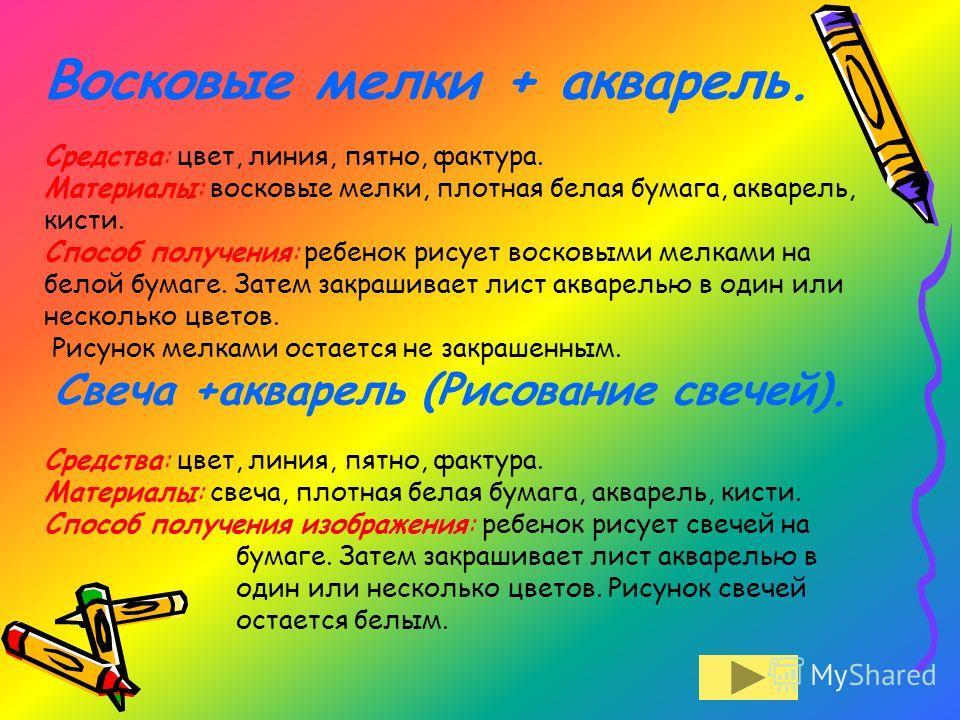 Рисование восковыми мелками, пастелью Соленкова Никиты 2 класс Наволоцкого Ильи 6 класс