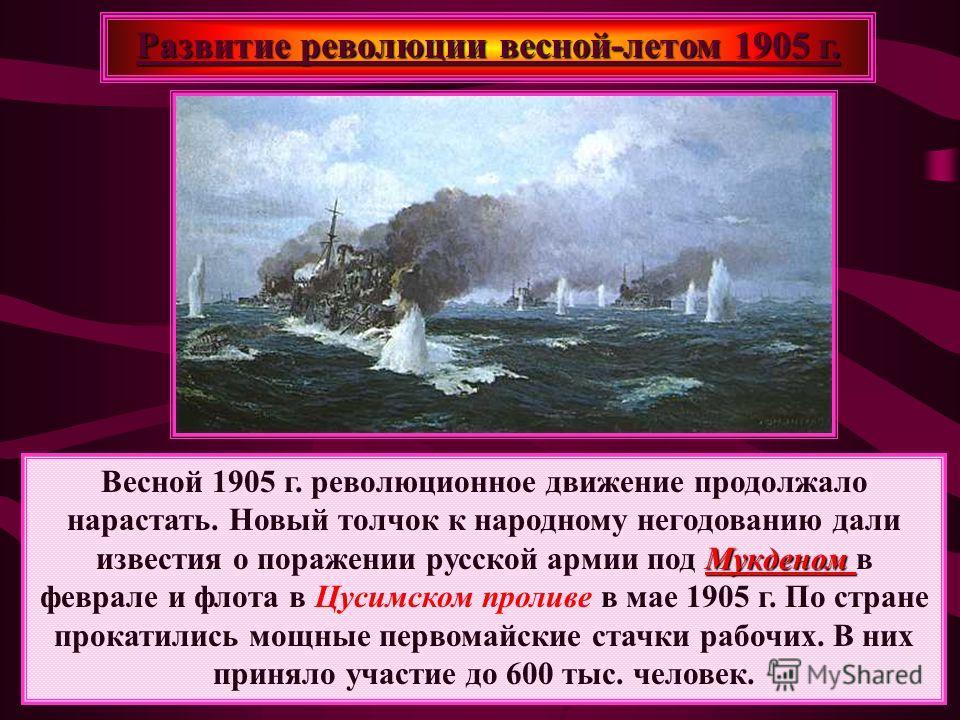 Развитие революции весной-летом 1905 г. 9 января 1905 г. Октябрьская стачка 1905