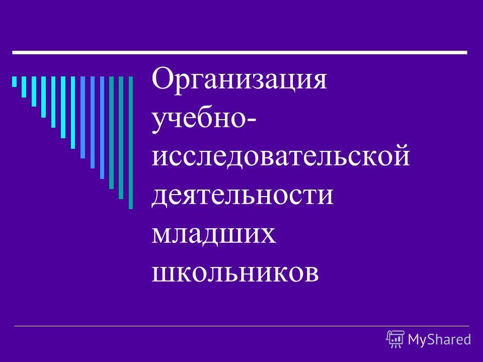 Организация учебно- исследовательской деятельности младших школьников
