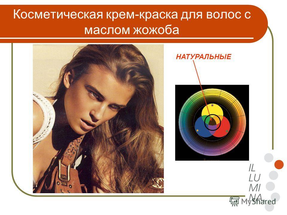 Косметическая крем-краска для волос с маслом жожоба НАТУРАЛЬНЫЕ