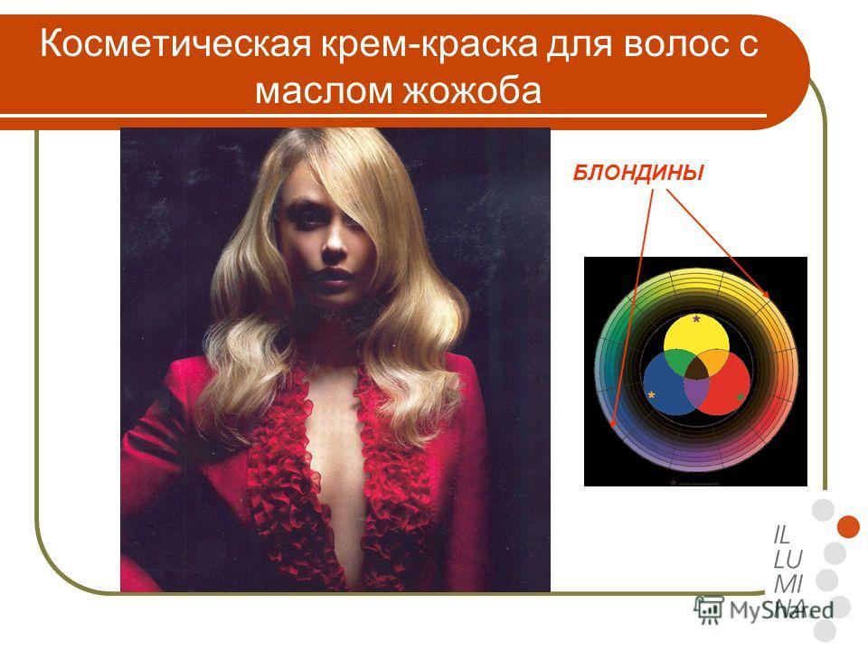 Косметическая крем-краска для волос с маслом жожоба БЛОНДИНЫ