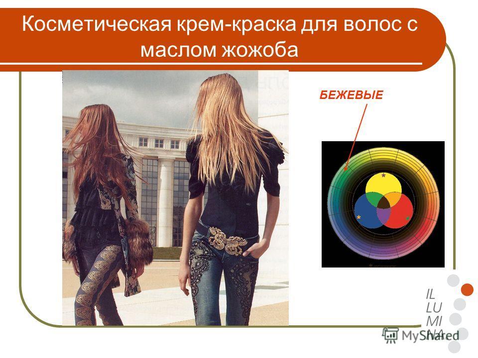 Косметическая крем-краска для волос с маслом жожоба БЕЖЕВЫЕ
