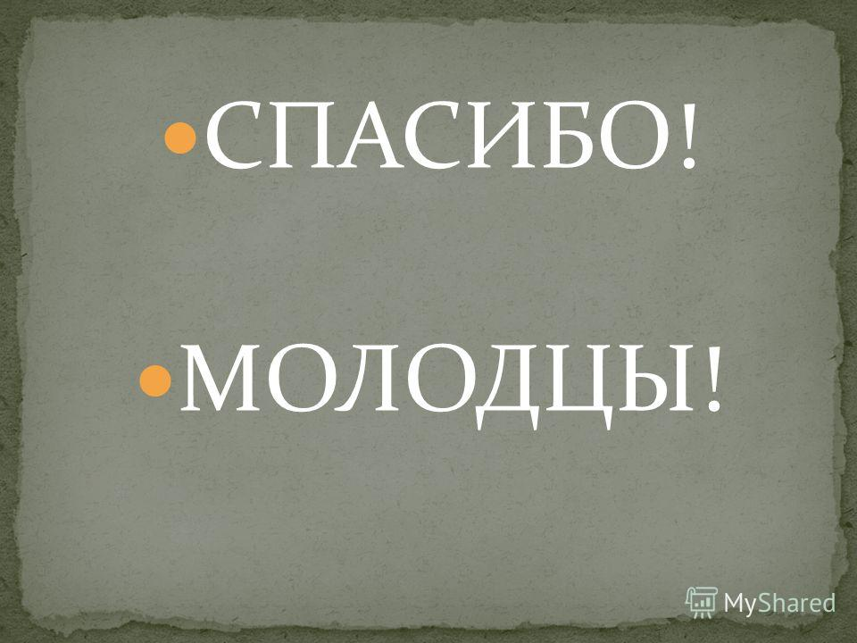 СПАСИБО! МОЛОДЦЫ!