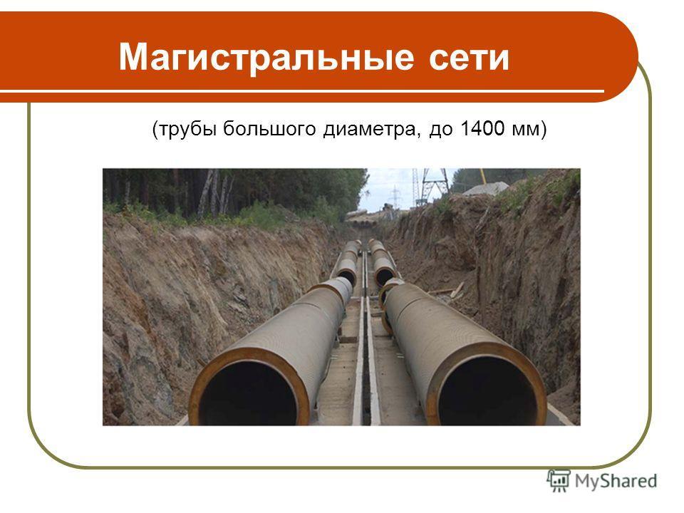 Магистральные сети (трубы большого диаметра, до 1400 мм)