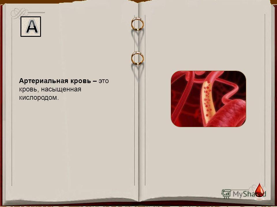 Артериальная кровь – это кровь, насыщенная кислородом.