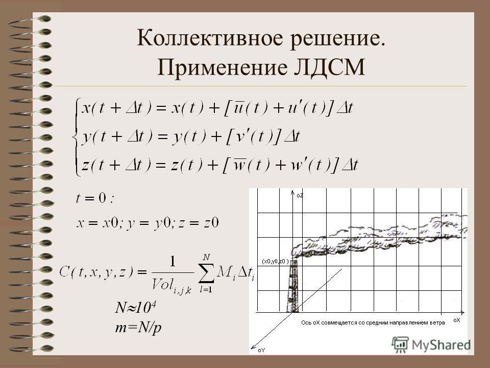 Коллективное решение. Применение ЛДСМ N 10 4 m=N/p