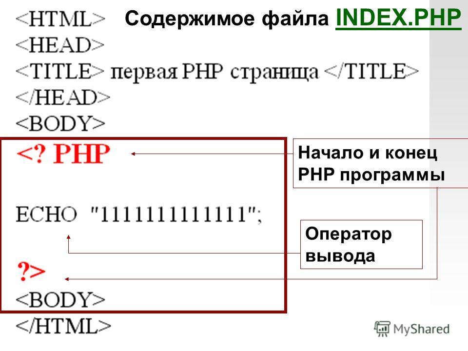 Ввод вывод на языке php
