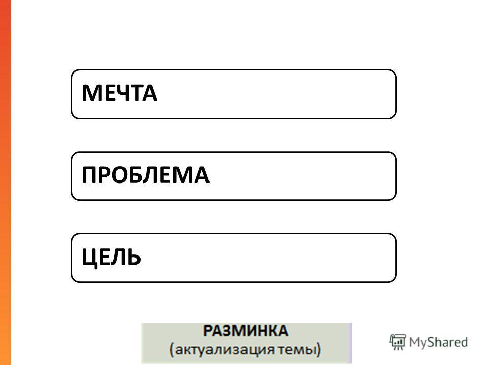МЕЧТАПРОБЛЕМАЦЕЛЬ
