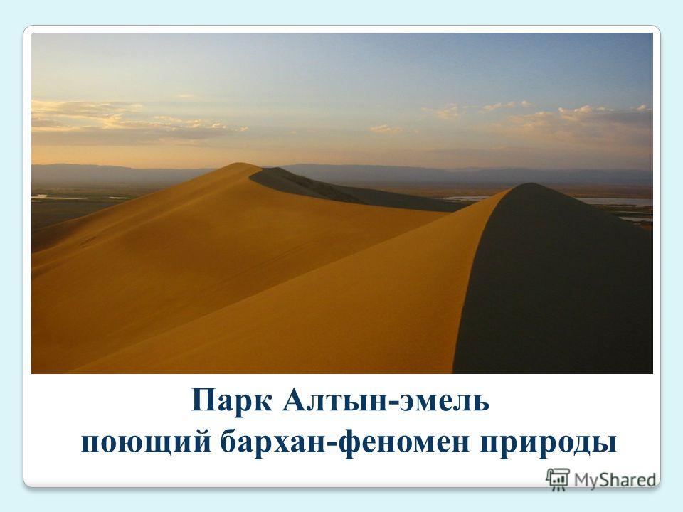 Парк Алтын-эмель поющий бархан-феномен природы