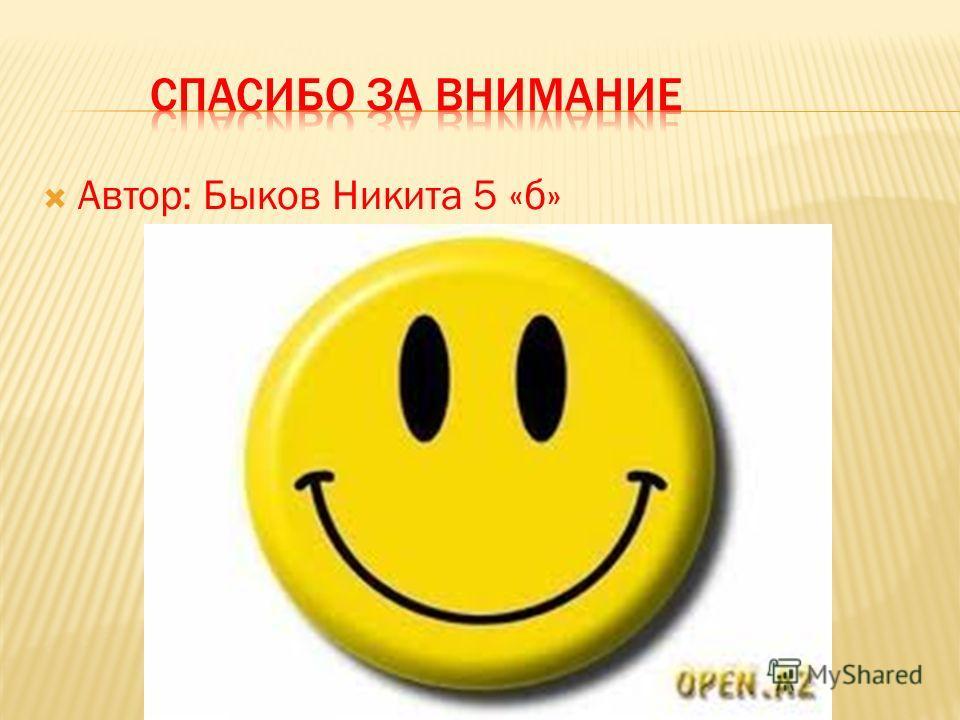 Автор: Быков Никита 5 «б»