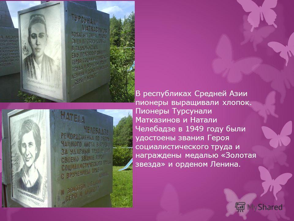 Орденом «Знак Почета» были награждены 11 пионеров из разных из разных областей Советского союза