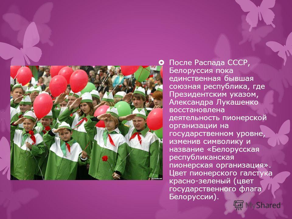В 1990 году на Х всесоюзном слёте в Артеке Всесоюзная пионерская организация имени Ленина была преобразована в международный Союз пионерских организаций Федерацию детских организаций. На практике это союз детских независимых организаций, без структур
