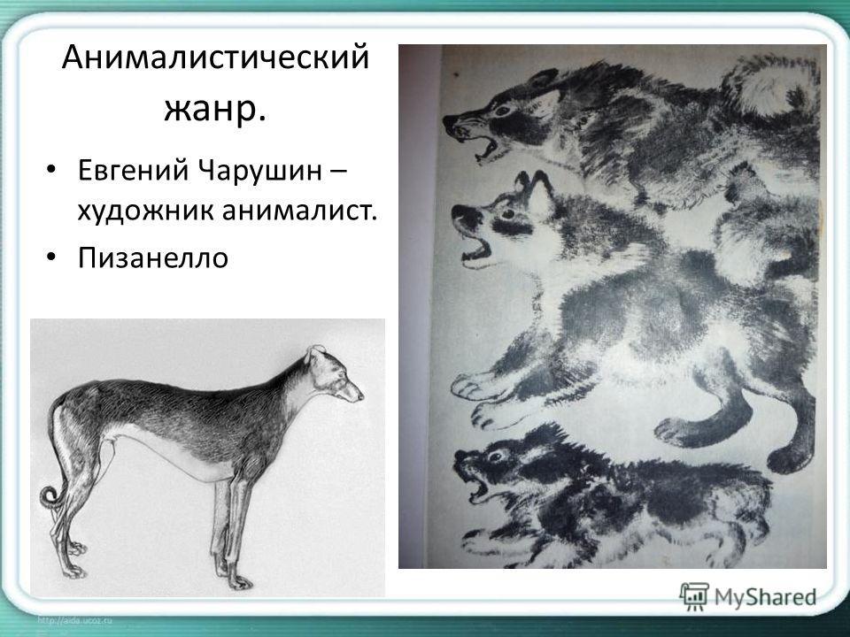 Анималистический жанр. Евгений Чарушин – художник анималист. Пизанелло