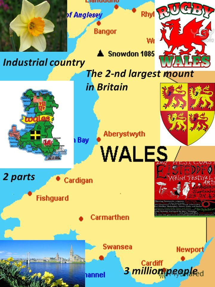 3 million people 2 parts Industrial country The 2-nd largest mount in Britain