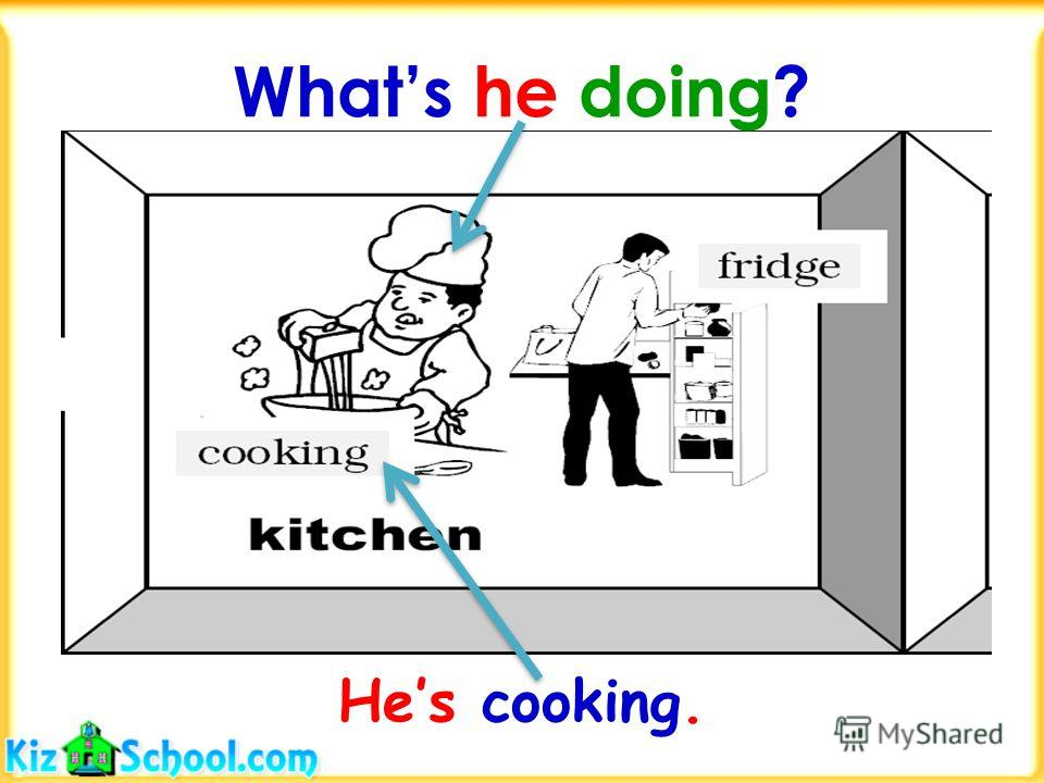 Whats in the kitchen? Theres a fridge in the kitchen.
