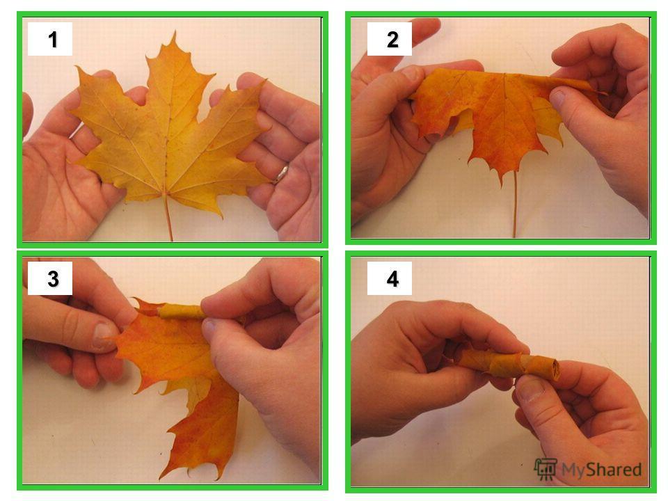 В осеннюю пору можно найти красивые листья и сделать вот такой букет