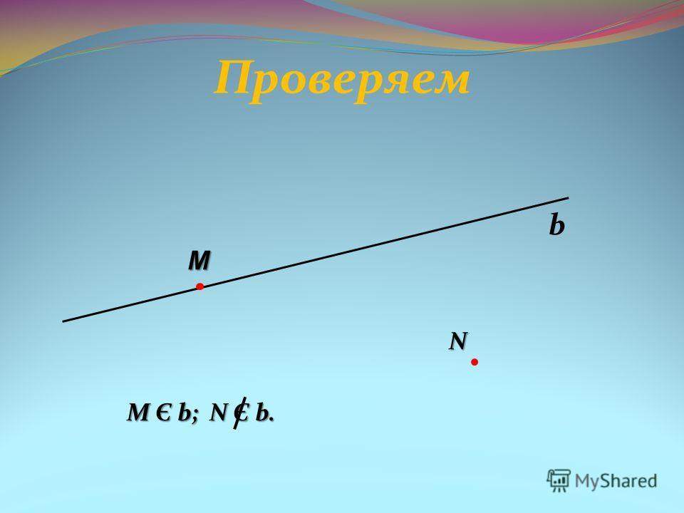 Проверяем N М Є b; N Є b. М Є b; N Є b. b M
