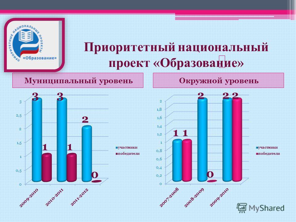 Приоритетный национальный проект «Образование» Муниципальный уровеньОкружной уровень