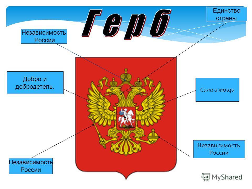 Единство страны Независимость России Независимость России добро и добродетель. добро и добродетель. Добро и добродетель. Сила и мощь Независимость России