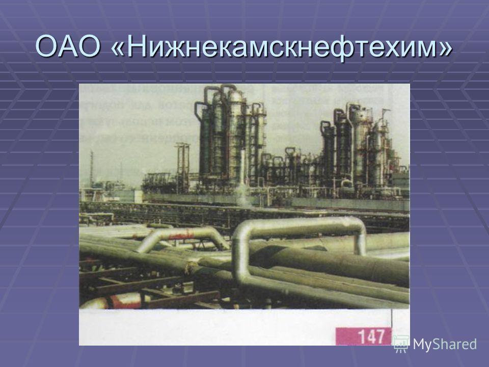 ОАО «Нижнекамскнефтехим»